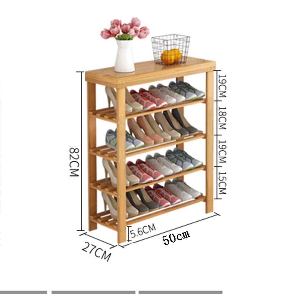 EIDUOシューズラック 靴ラック、交換靴ベンチ多層家庭ソリッドウッドアセンブリストレージ靴キャビネット 自宅に適しています (サイズ さいず : 4 layers - 50) B07KQRK4JY  4 layers - 50