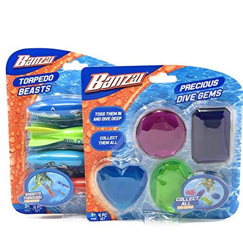 Fun Stuff Banzai Torpedo Beasts Precious Dive Gems Bundle