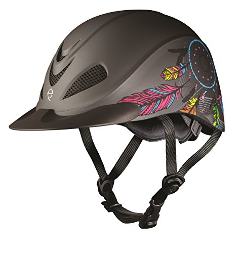 TROXEL - Rebel Western Riding Helmet ♦ Low Profile ♦ SEI/ASTM Certification Styles (Dreamcatcher, Small) (Helmet Spirit Troxel Schooling)