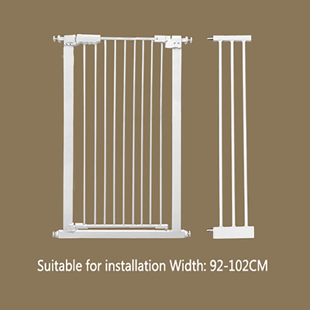 W92-102CM H 110CM W92-102CM H 110CM Pet gate Dog Fence Indoor Anti-Dog Isolation Railing Safety Fence Cat and Dog Fence Isolation Door Pet Fence pet Bed Detachable (color   W92-102CM, Size   H 110CM)