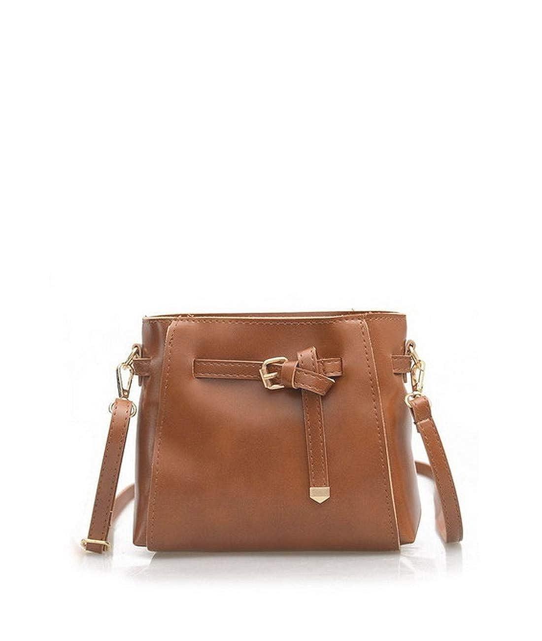 K.X.S Christmas Gifts Womens Crossbody Bag Vogue Unique Design Solid Soft Casual Bag