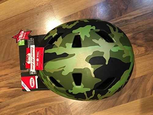 Bell Youth Multisport Helmet, Injector Green Camouflage, Age 8-14.Size 55 - 59cm