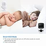 "Video Baby Monitor with Camera [2019 Upgraded] Night Vision, Two-Way Talk Audio, Temperature Sensor, ECO Mode, 2.4"" Color Screen, Long Transmission Range (2.4 inch)"