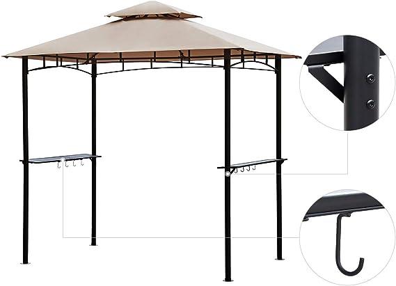 Sekey Cenador para Jardin Impermeable Carpa de Jardín de 235 x ...