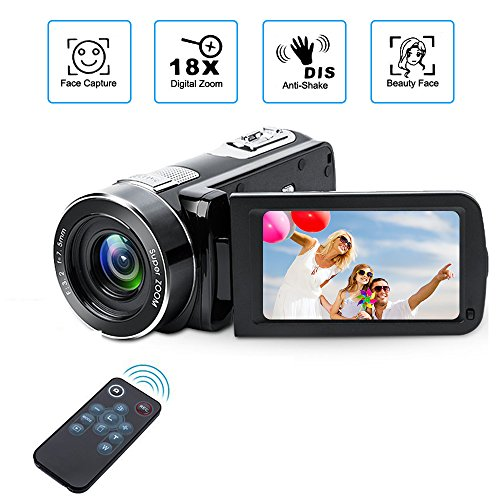 Digital Camcorder with IR Night Vision, Weton 1080P Full HD Digital Video...