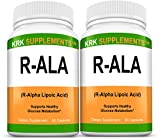 2 Bottles R-ALA R-Alpha Lipoic Acid 200mg 180 Total Capsules KRK Supplements