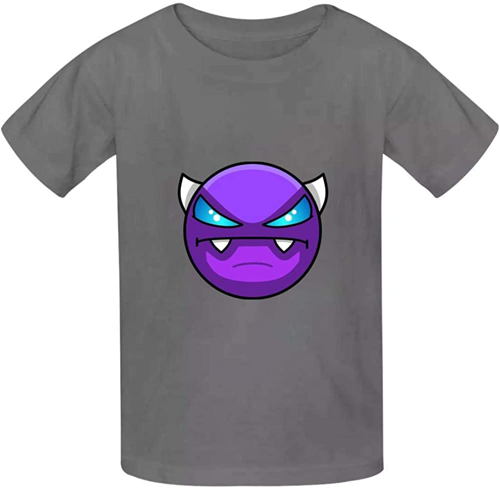 Fashion Youth Tee Shirts Geometry Face Demon Dash 3D Print Kids T-Shirts