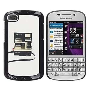 Cámara instantánea Fotografía Retro - Metal de aluminio y de plástico duro Caja del teléfono - Negro - BlackBerry Q10