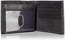 Alpine Swiss Men\'s Genuine Leather Wallet Slim Flip-out Bifold Black