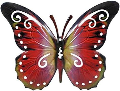 Arte de la pared decoración de pared de Metal escultura - 17cm - mariposa para el jardín o en la casa: Amazon.es: Jardín