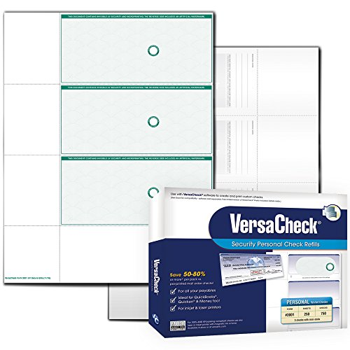 VersaCheck UV Secure Personal Check Refills: Form #3001 Personal Wallet - Green - Elite - 250 Sheets]()