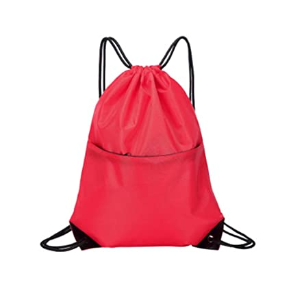 2d327f9ec8 Image Unavailable. Image not available for. Color  PANDA SUPERSTORE Set of  2 String Bags Sports Drawstring Backpacks Waterproof Backpacks  Red