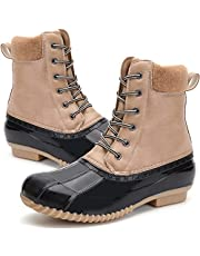 Women's Winter Duck Boots Waterproof Rain Snow Boots for Cold Weather