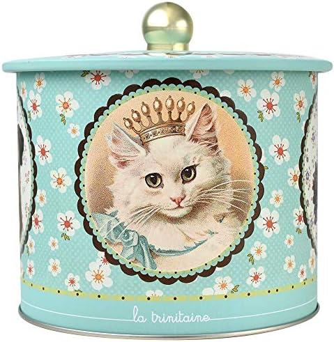 ラ・トリニテーヌ ネコ バレル缶 ラウンド ティン缶入り 厚焼きパレット&薄焼きガレット 445g