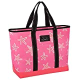 SCOUT Beach Bum Large Tote Bag, For the Beach or Pool, Slim Profile, Folds Flat, Sand and Water Resistant, Zips Closed, Urchin Care