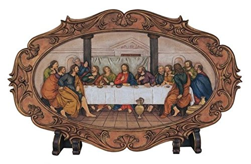 GSC StealStreet SS-G-28204 Last Supper Oval Table Top Wal...