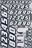 XXX Main Race Numbers - White