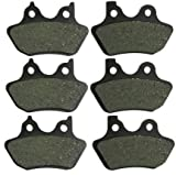 Front and Rear Kevlar Carbon Brake Pads for Harley-Davidson XL Sportster 1200s Sport FXDL Low Rider FXDWG Wide Glide 2000 2001 2002 2003