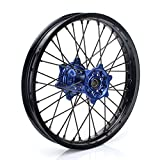 TARAZON 18'' MX Rear Complete Wheel Set Rim Spokes Blue Hub for Yamaha YZ250F YZF250 YZ450F YZF450 2009-2017