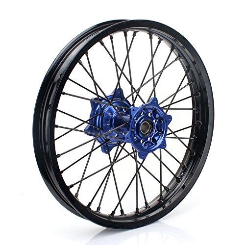 TARAZON 18'' MX Rear Complete Wheel Set Rim Spokes Blue Hub for Yamaha YZ250F YZF250 YZ450F YZF450 2009-2017 by TARAZON (Image #3)