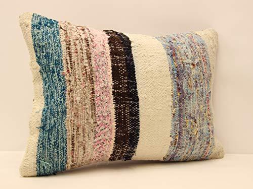 Handmade Kilim Cushion - Bohemian kilim pillow cover 14x20 inch (35x50 cm) Decorative Lumbar Kelim pillow cover Home Decor Ethnic Pillow cover Kilim Cushion Cover Boho pillow sofa pillow throw pillow covers turkish rug pillow