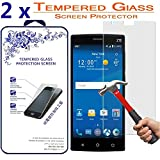 2x Glass For ZTE Zmax 2 / Z958 Premium Tempered Glass Screen Protector [Anti-scratch Bubble-free, 0.3mm] (For ZTE Zmax 2 / Z958)