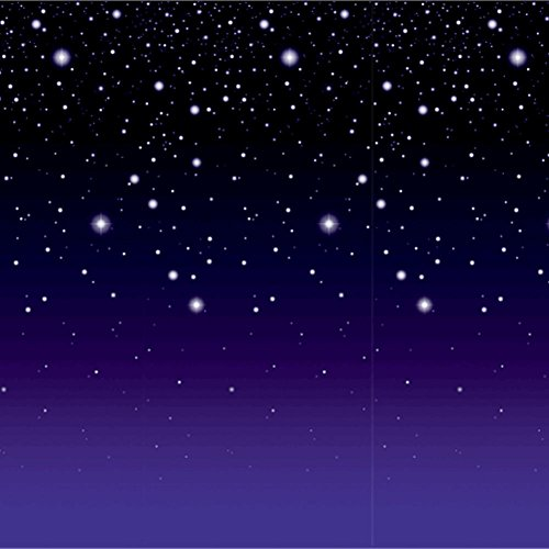 [Starry Night Backdrop Party Accessory (1 count) (1/Pkg)] (Movie Star Costume Party)
