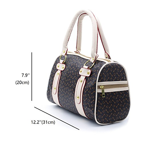 ZENTEII Women Faux Synthetic Leather Boston Handbag by ZENTEII (Image #7)