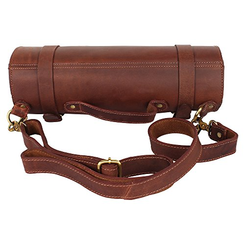 Genuine Leather Chef Knife Roll - All Purpose Chef Roll Up Kit - Portable Kitchen Knives Protector by Rustic Town (Image #8)