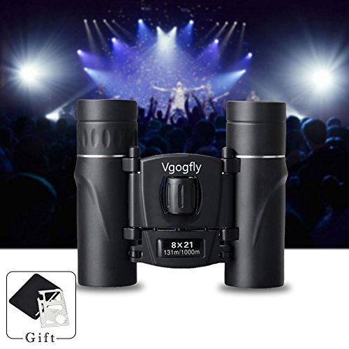8x21 Binoculars for Adults Kids Small Compact Lightweight Mini Pocket Folding for Bird Watching Concert Theater Opera Glasses Travel Hiking Hunting Outdoor Sports Binocular by Vgogfly