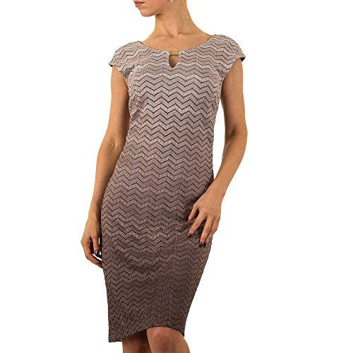 Ital Damen Vera bei Für Kleid Taupe Mont Design qfxtSv