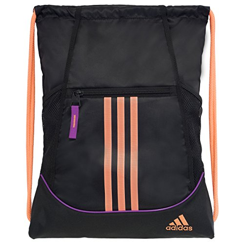 adidas Alliance II Sackpack, Black/Flash Pink/Flash Orange,