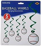 Baseball Whirls   (5/Pkg)