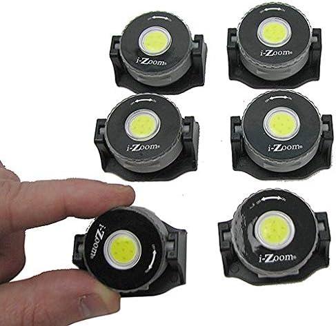 iZoom 60 Lumen COB LED Accent Lights 6 pcs. Peel and Stick Backing