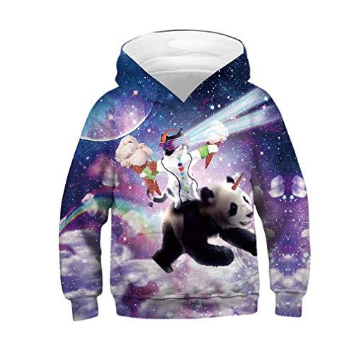 SAYM Boys Girls Kids Galaxy Athletic Pullover Hoodies Sweatshirts 4-12Y NO16 S