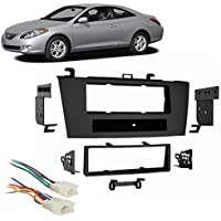 Fits Toyota Camry Solara 2004-2008 Single DIN Harness Radio Install Dash Kit