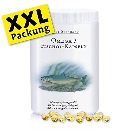 Sanct Bernhard Omega-3 Fischöl XXL Sparpackung- 1000 Kapseln, 1er Pack (1 x 669 g)
