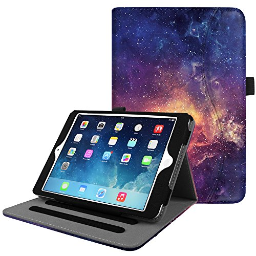 Fintie iPad Mini/Mini 2 / Mini 3 Case [Corner Protection] - [Multi-Angle Viewing] Folio Smart Stand Protective Cover with Pocket, Auto Sleep/Wake for Apple iPad Mini 1 / Mini 2 / Mini 3, Galaxy (Ipad Mini 3 Stand Cover)