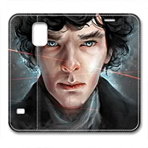 iCustomonline Sherlock Holmes PU Leather Cover for Samsung Galaxy S5 by mcsharks
