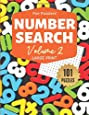 "Fun Puzzlers Number Search: 101 Puzzles Volume 2: 8.5"" x 11"" Large Print (Fun Puzzlers Large Print Number Search Books)"