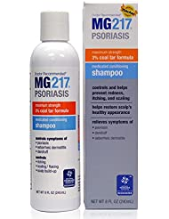 MG217 Psoriasis Medicated Conditioning 3% Coal Tar Formula Shampoo, 8 Fluid Ounce