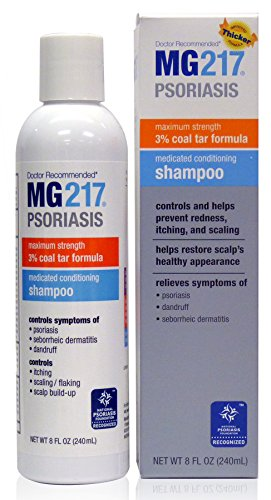 [MG217 Psoriasis Medicated Conditioning Coal Tar Formula Shampoo, 8 Fluid Ounce] (Coal Tar Shampoo)