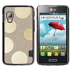 Caucho caso de Shell duro de la cubierta de accesorios de protección BY RAYDREAMMM - LG Optimus L5 II Dual E455 E460 - Polka Dots Wood Pattern Bling