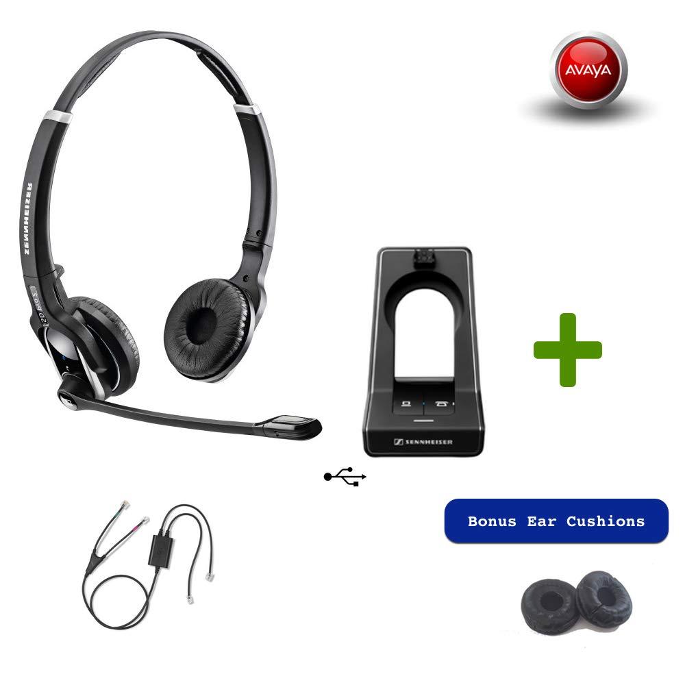 Sennheiser SD PRO2 - Deskphone Cordless Headset with Avaya EHS Adapter | Compatible Phones: 2420, 5420, 4610, 4610SW, 4620, 4620SW, 4621, 4621SW, 4622, 4622SW, 4625, 4625SW, 4630, 4630SW, 5610, 5620, by Sennheiser (Image #1)