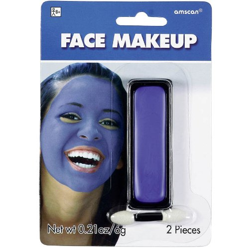 Blue Face Paint Applicator Makeup Sports Fan School Spirit Halloween (Funny Halloween Face Paint)