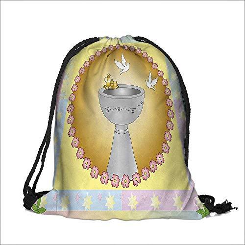 Cordón de algodón ropa de lino mi primera comunión cartel niño bautismo uvas taza pan vela peces alas de la artesanía...