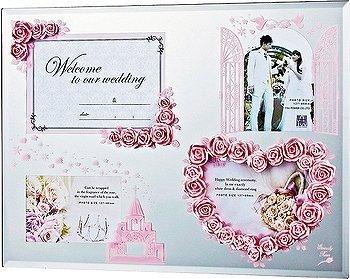 「エターナリーローズフォトフレーム (4ウィンドースペシャルライトピンク) 」フォトフレーム 写真たて ブライダル 結婚 ギフト[フォトフレーム通販] B00H7DMI1W
