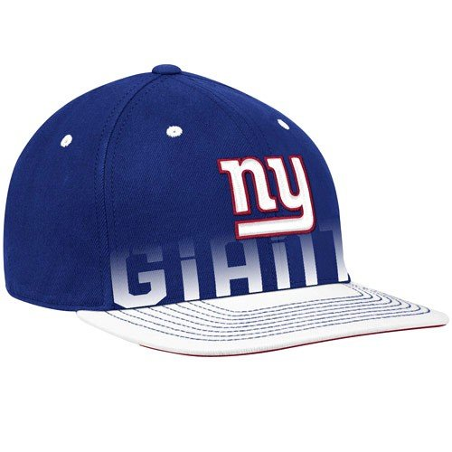 Adult Reebok Equipment Hat - Reebok New York Giants Sideline Player Pro Shape Flat Brim Flex Hat Large/X Large