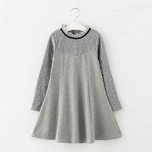 XIU*RONG Dress For Children'S Vestidos Y Faldas Infantiles gray