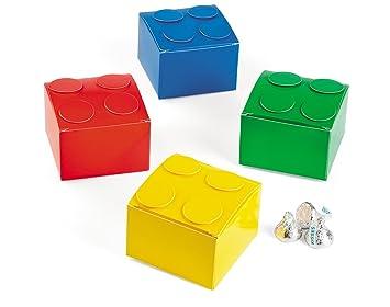 6 Pequeños Bloques de construcción LEGO Regalo & cajas – Fiestas Infantiles